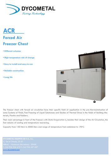 INDSUTRIAL FORCED AIR FREEZER CHESTS