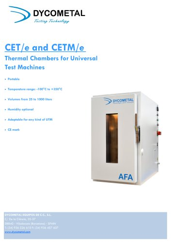 TENSILE TEST CHAMBERS, CETe