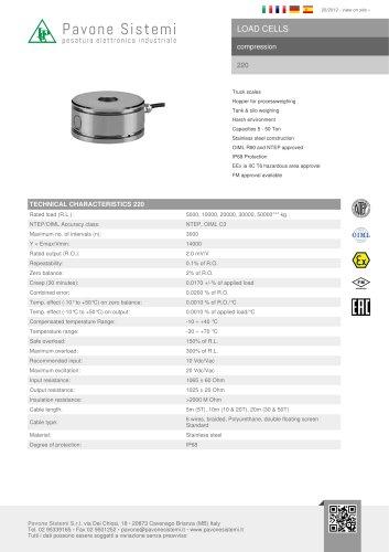 220, load cells compression