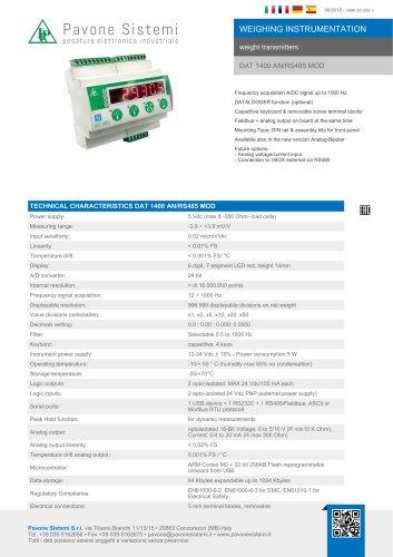 DAT 1400 AN/RS485 MOD