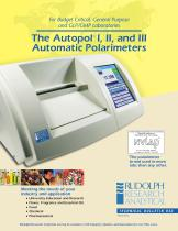 The Autopol ® I, II, and III Automatic Polarimeters