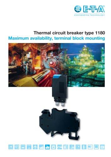 Thermal circuit breaker type 1180
