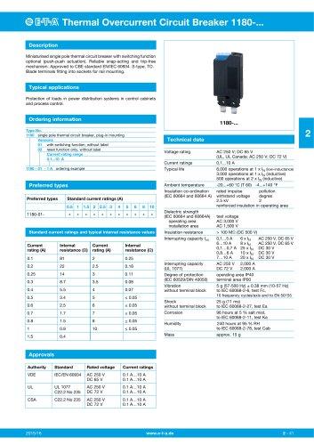 Thermal Overcurrent Circuit Breaker 1180-.