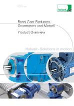 Rossi Gear Reducers, Gearmotors and Motors