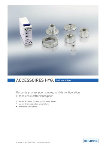 Accessories hygienic instruments