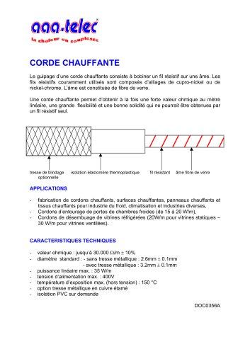Corde Chauffante