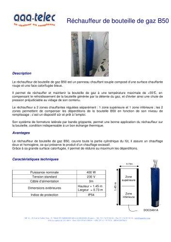 Réchauffe bouteille de gaz B50
