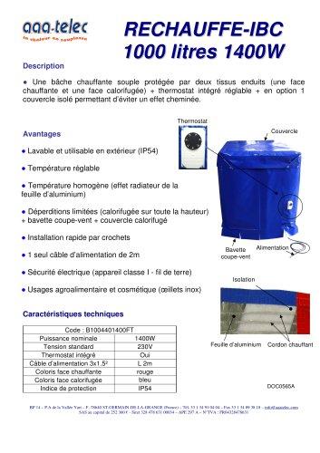 Réchauffe cuve 1000 litres (IBC)