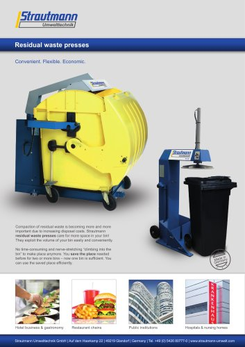 Residual waste presses brochure