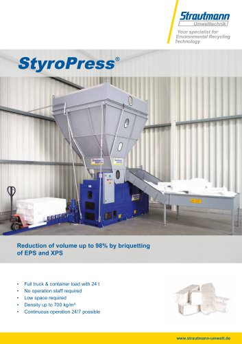StyroPress brochure