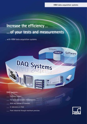 DAQ Data Acquisition Systems and Measuring Amplifiers