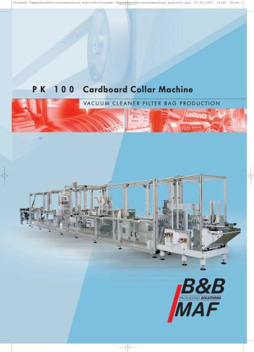 PK 100 Cardboard Collar Machine