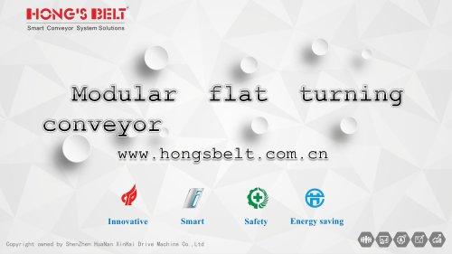 Flattop curved conveyor