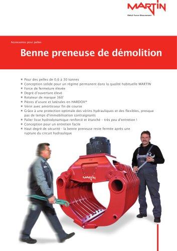 Accessoires pour pelles Benne preneuse de démolition