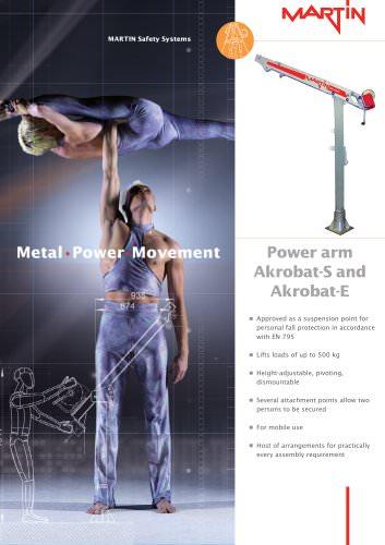 Power arm Akrobat-S and Akrobat-E