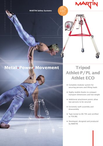 Safety system - Tripod Athlet-P / PL and Athlet ECO