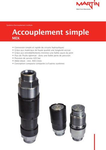 Système d'accouplement multiple Accouplement simple MEK