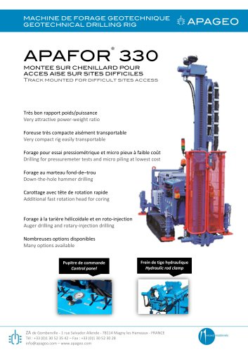 APAFOR® 330 AND 340