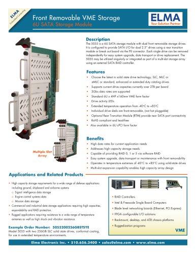 6U VME High Capacity SATA Storage Module - 5055