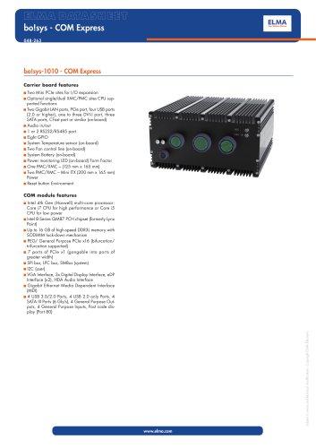 bo!sys-1010 - COM Express