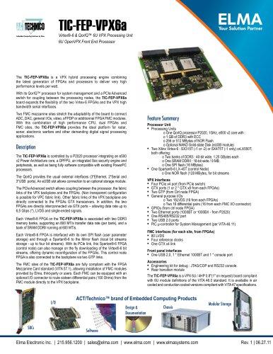 Xilinx Virtex-6 FPGA Front End Processing Board - Model TIC-FEP-VPX6a