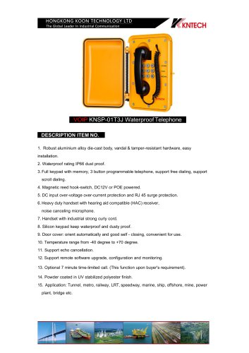 weatherproof telephone KNSP-01