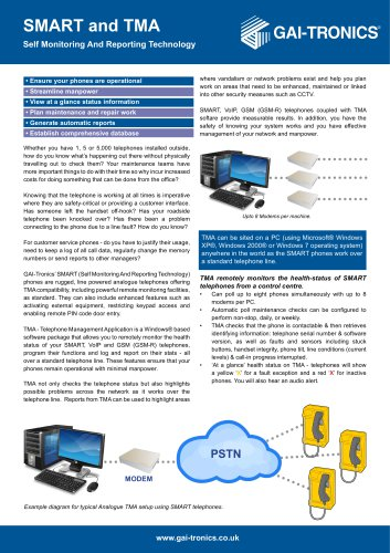 SMART Self Monitoring And Reporting Telephone (TMA)