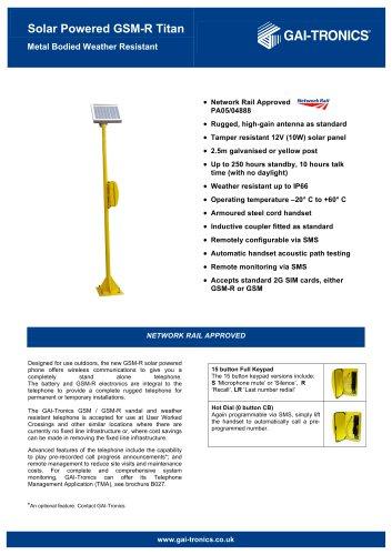 Solar Powered GSM-R Titan