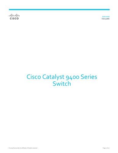 Catalyst 9400 Series