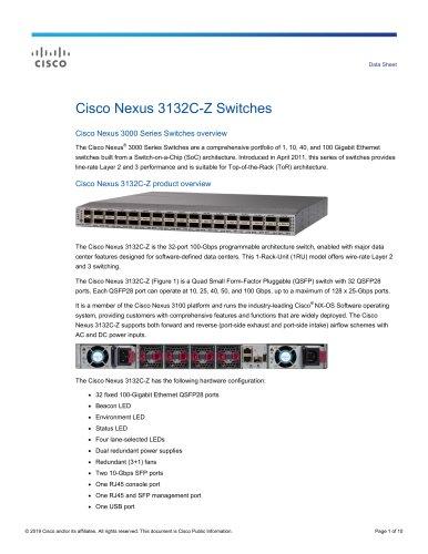Cisco Nexus 3132C-Z Switches