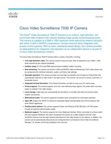 Cisco Video Surveillance 7030