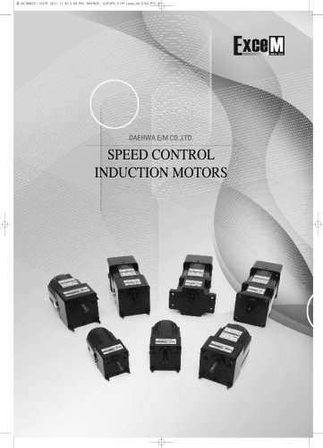 SPEED CONTROL INDUCTION MOTORS
