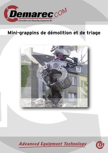 Mini-pinces de démolition et de recyclage