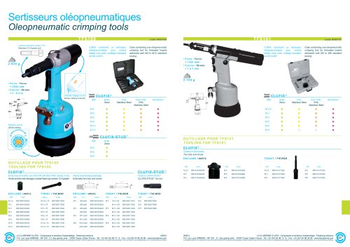 Oleopneumatic crimping tools