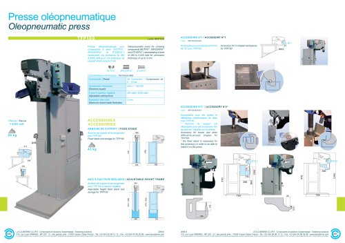 Oleopneumatic press