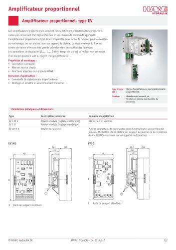 Amplificateur proportionnel, type EV / EV series