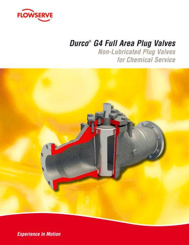 Durco G4 Full Area Plug Valves
