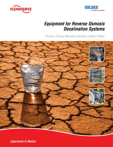 Equipment for Reverse Osmosis Desalination Systems