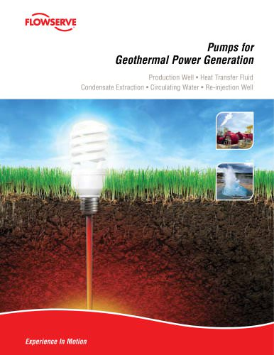 Pumps for Geothermal Power Generation