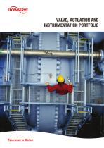 Valve, Actuation and instrumentation portfolio