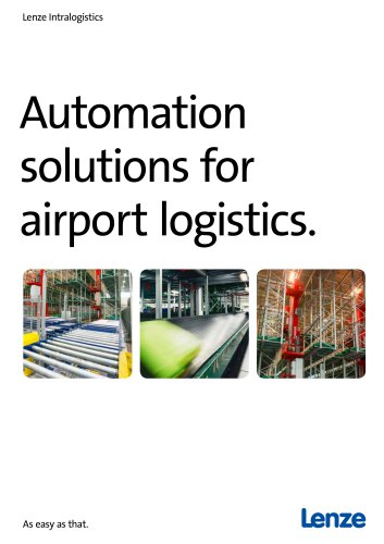Automation Solutions for Airport Logistics