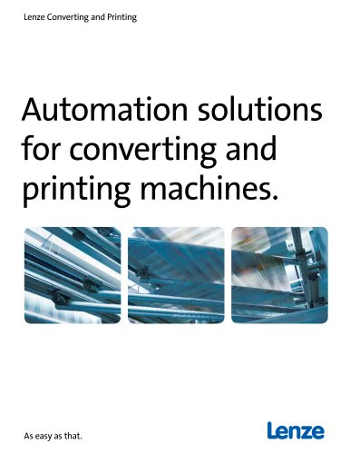 Automation solutions for converting and printing machines