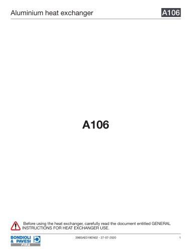 Aluminium Heat Exchanger   A106