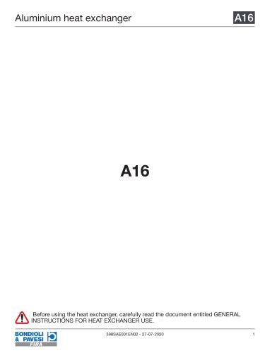 Aluminium Heat Exchanger   A16