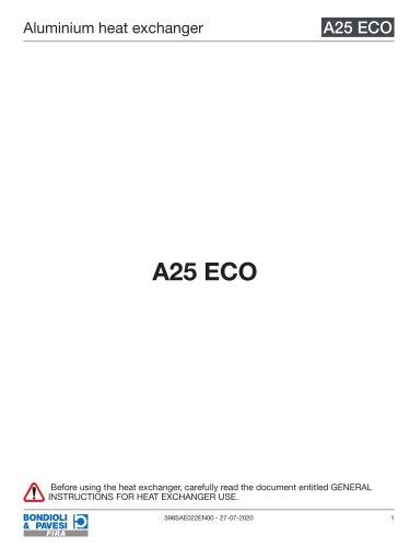 Aluminium Heat Exchanger   A25 ECO