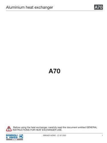 Aluminium Heat Exchanger   A70