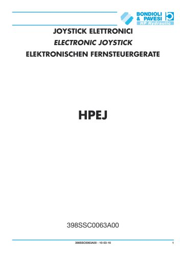 Electronic Joystick - HPEJ