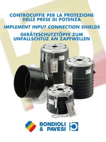 Input implement connection shields