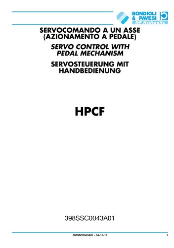 Servo control with pedal mechanism - HPCF