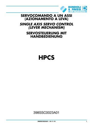 Single axis servo control (lever mechanism) - HPCS